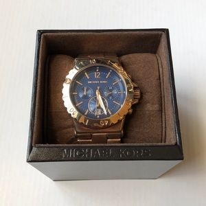 Michael Kors Chronograph Rose Gold-Tone Watch